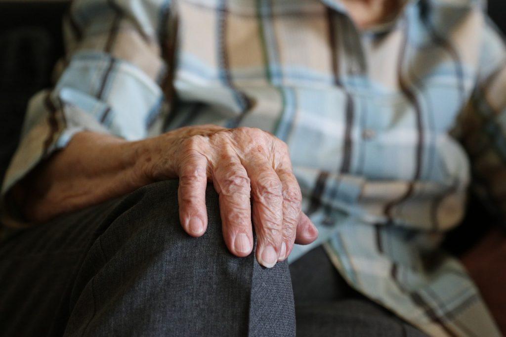 hands of a senior citizen